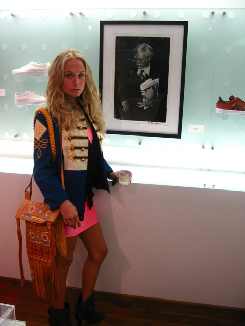 KK in front of Anton Perich's Iconic image of WARHOL
