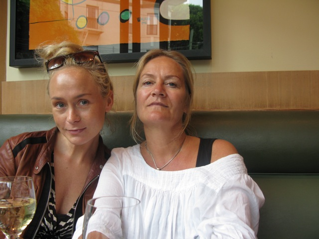 My mother and I lunching in San Francisco